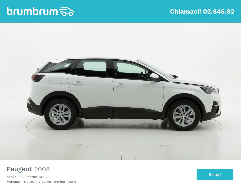 Peugeot 3008 benzina bianca a noleggio a lungo termine | brumbrum