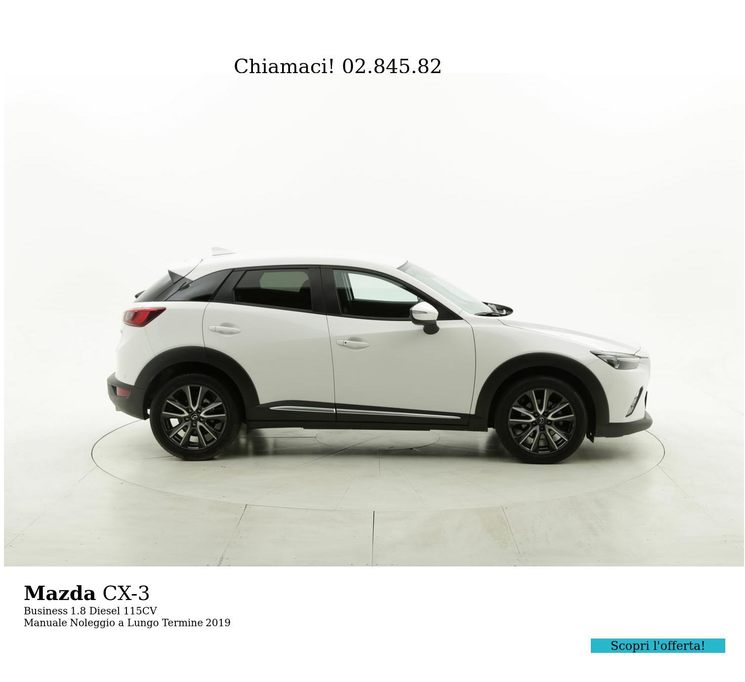 Mazda CX-3 diesel bianca a noleggio a lungo termine | brumbrum