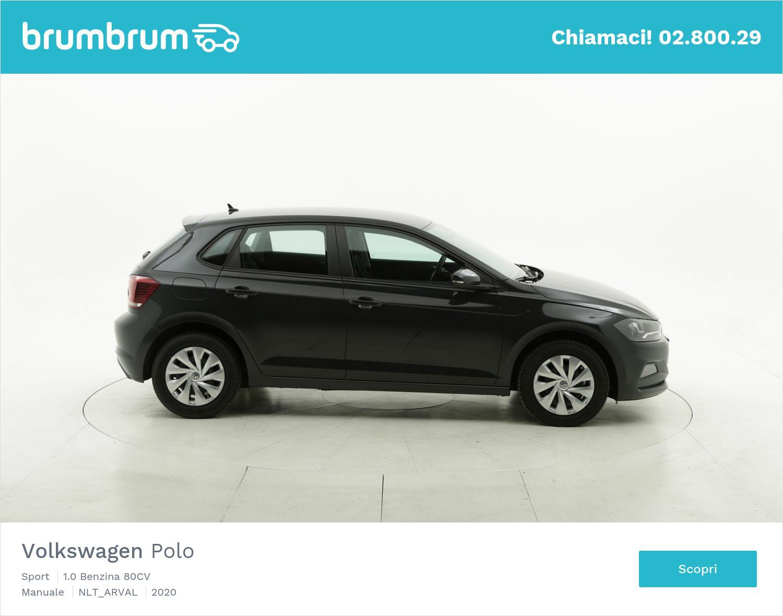 Volkswagen Polo benzina antracite a noleggio a lungo termine | brumbrum