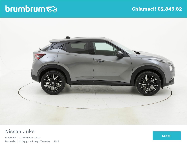 Nissan Juke benzina antracite a noleggio a lungo termine | brumbrum