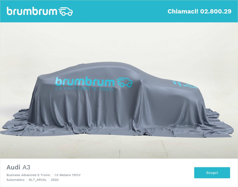 Audi A3 metano antracite a noleggio a lungo termine | brumbrum