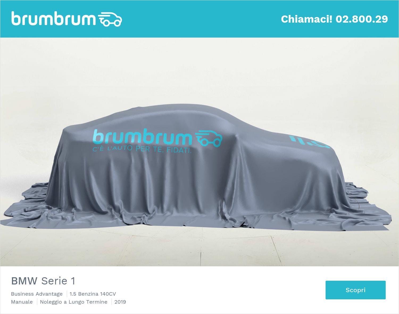 BMW Serie 1 benzina antracite a noleggio a lungo termine | brumbrum