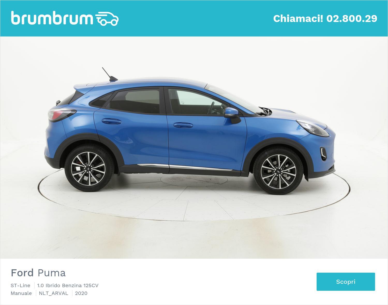 Ford Puma ST-Line ibrido benzina azzurra a noleggio a lungo termine | brumbrum