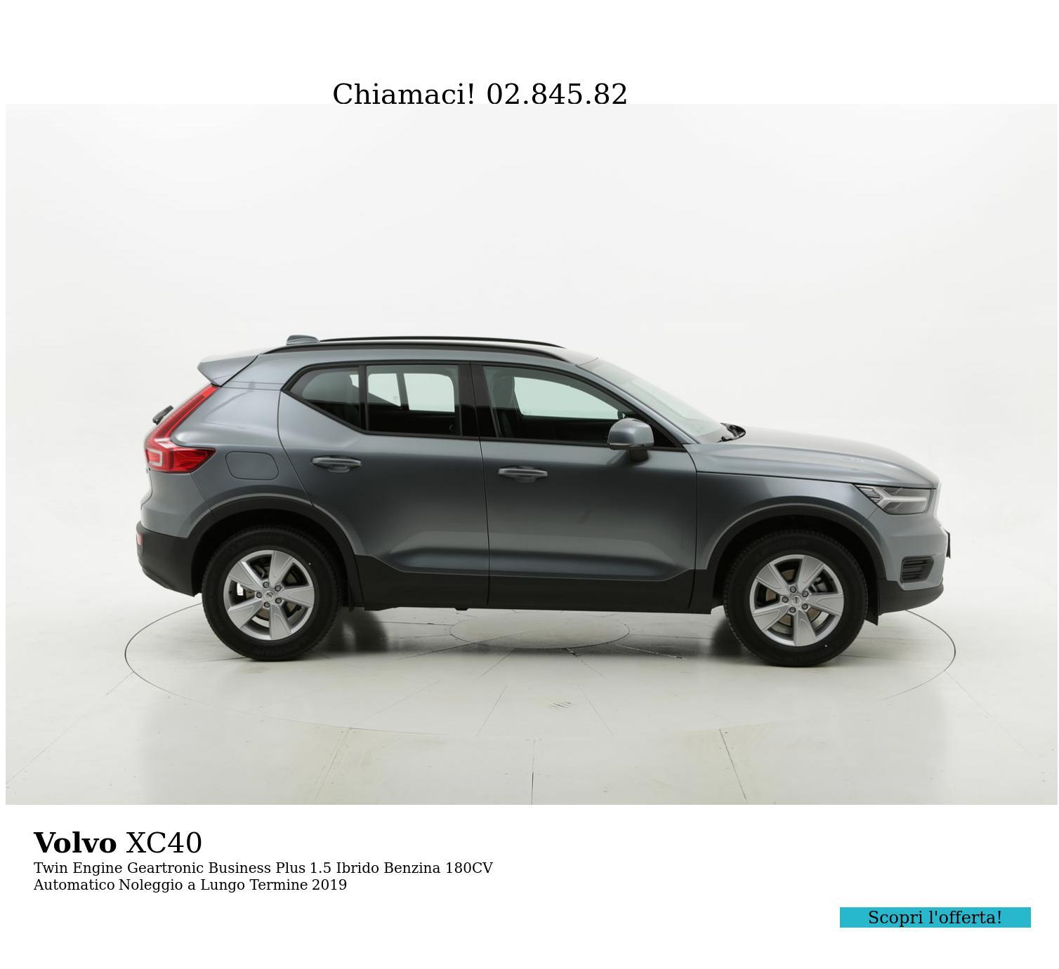 Volvo XC40 ibrido benzina antracite a noleggio a lungo termine | brumbrum
