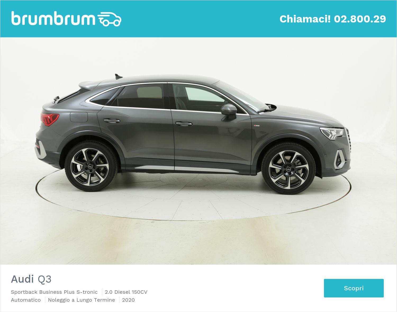 Audi Q3 diesel antracite a noleggio a lungo termine | brumbrum