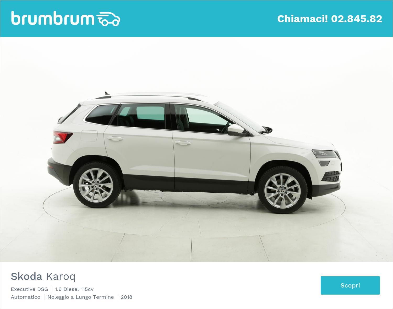 Skoda Karoq diesel bianca a noleggio a lungo termine | brumbrum