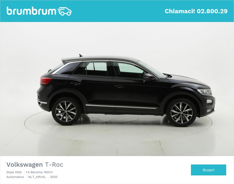 Volkswagen T-Roc benzina nera a noleggio a lungo termine | brumbrum