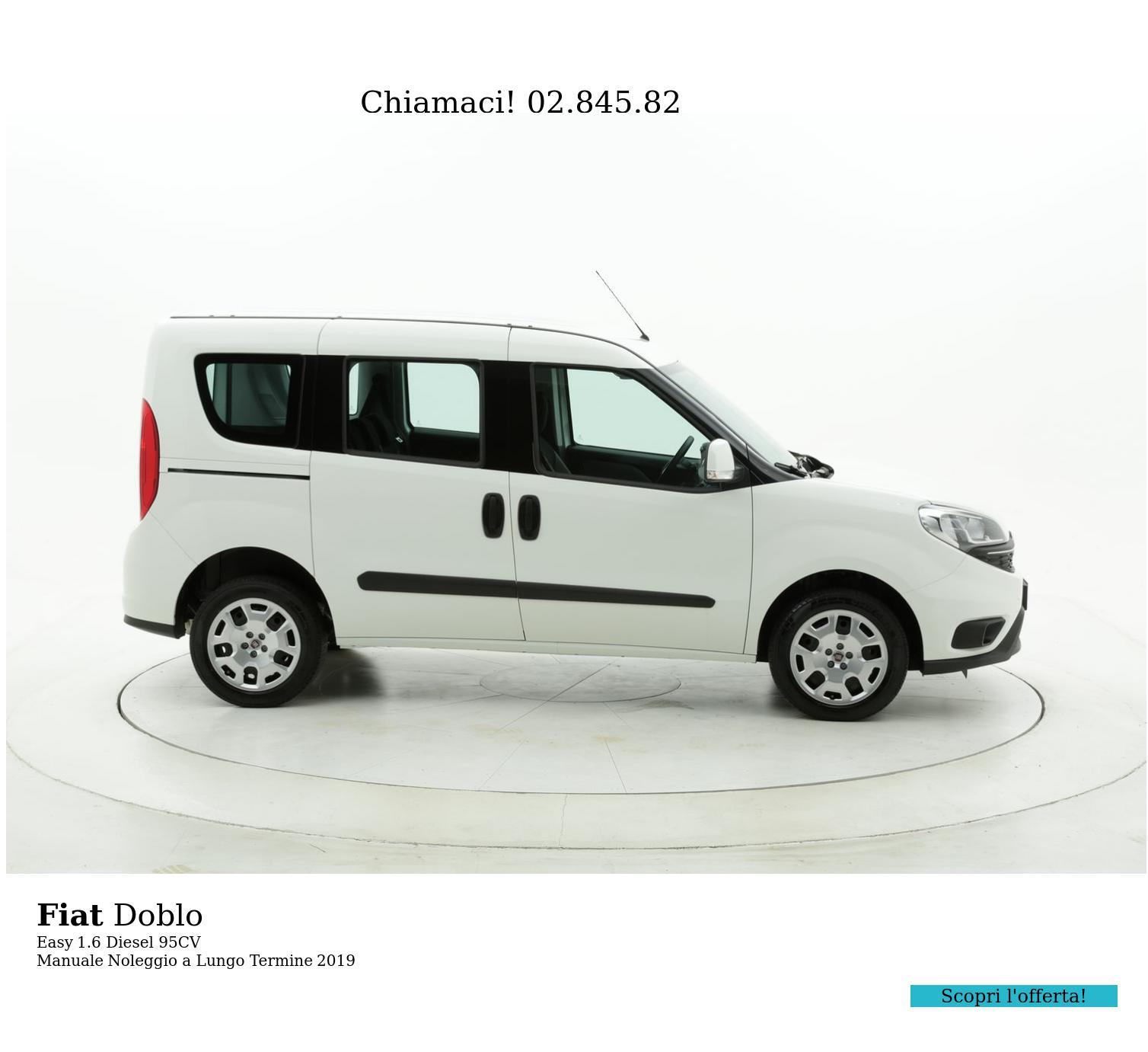 Fiat Doblo diesel bianca a noleggio a lungo termine | brumbrum