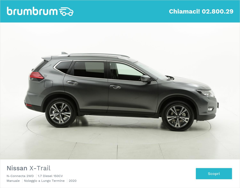 Nissan X-Trail N-Connecta 2WD diesel antracite a noleggio a lungo termine | brumbrum