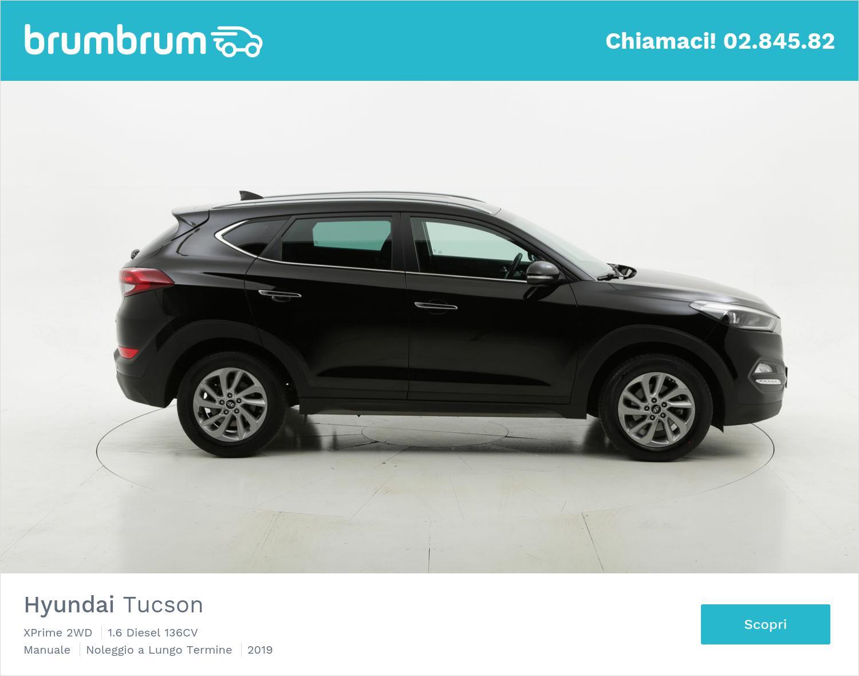 Hyundai Tucson diesel nera a noleggio a lungo termine | brumbrum