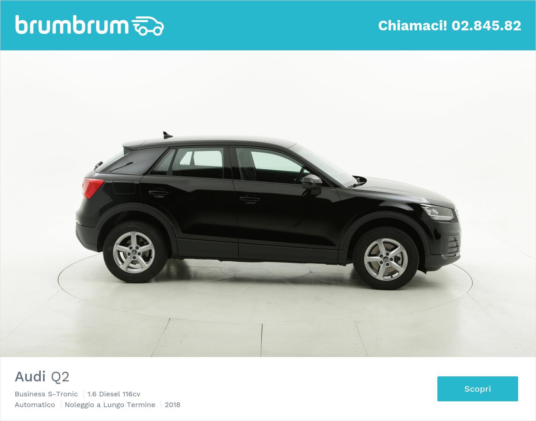 Audi Q2 diesel nera a noleggio a lungo termine | brumbrum