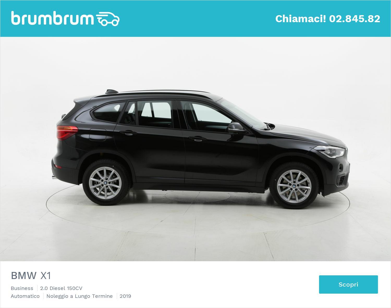 BMW X1 diesel nera a noleggio a lungo termine | brumbrum