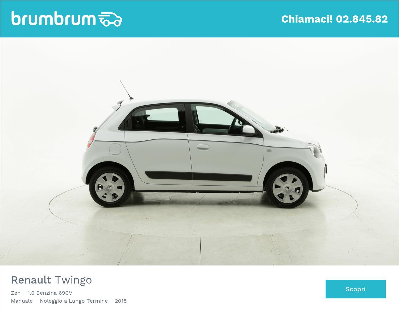 Renault Twingo benzina bianca a noleggio a lungo termine   brumbrum