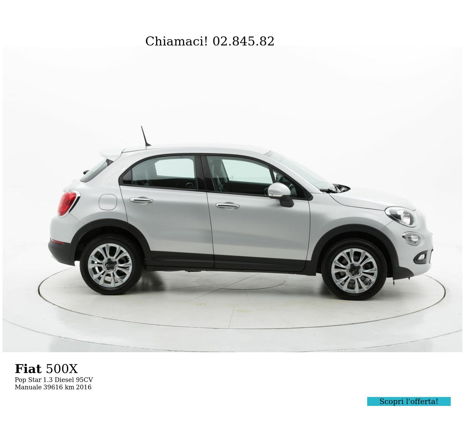 Fiat 500X usata del 2016 con 39.622 km | brumbrum