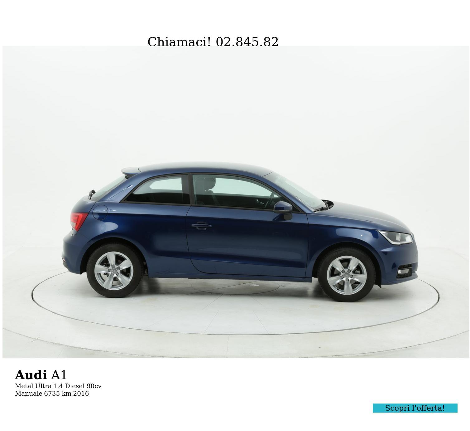 Audi A1 usata del 2016 con 6.809 km | brumbrum