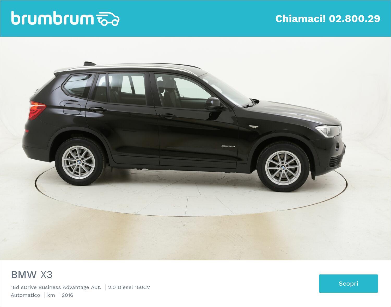 BMW X3 18d sDrive Business Advantage Aut. usata del 2016 con 98.237 km | brumbrum
