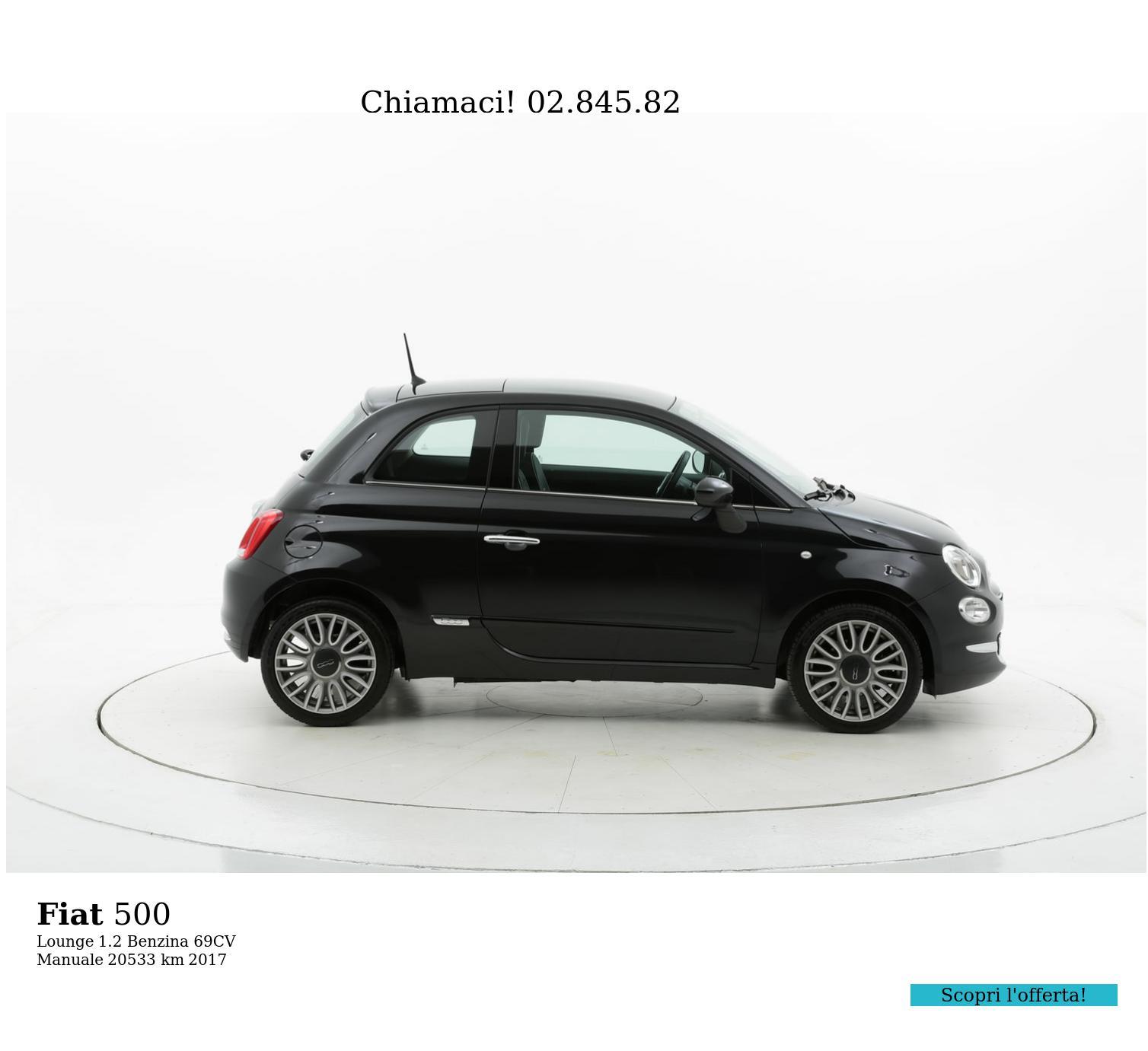 Fiat 500 usata del 2017 con 20.544 km | brumbrum