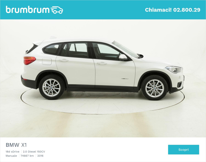 BMW X1 18d sDrive usata del 2016 con 74.705 km | brumbrum