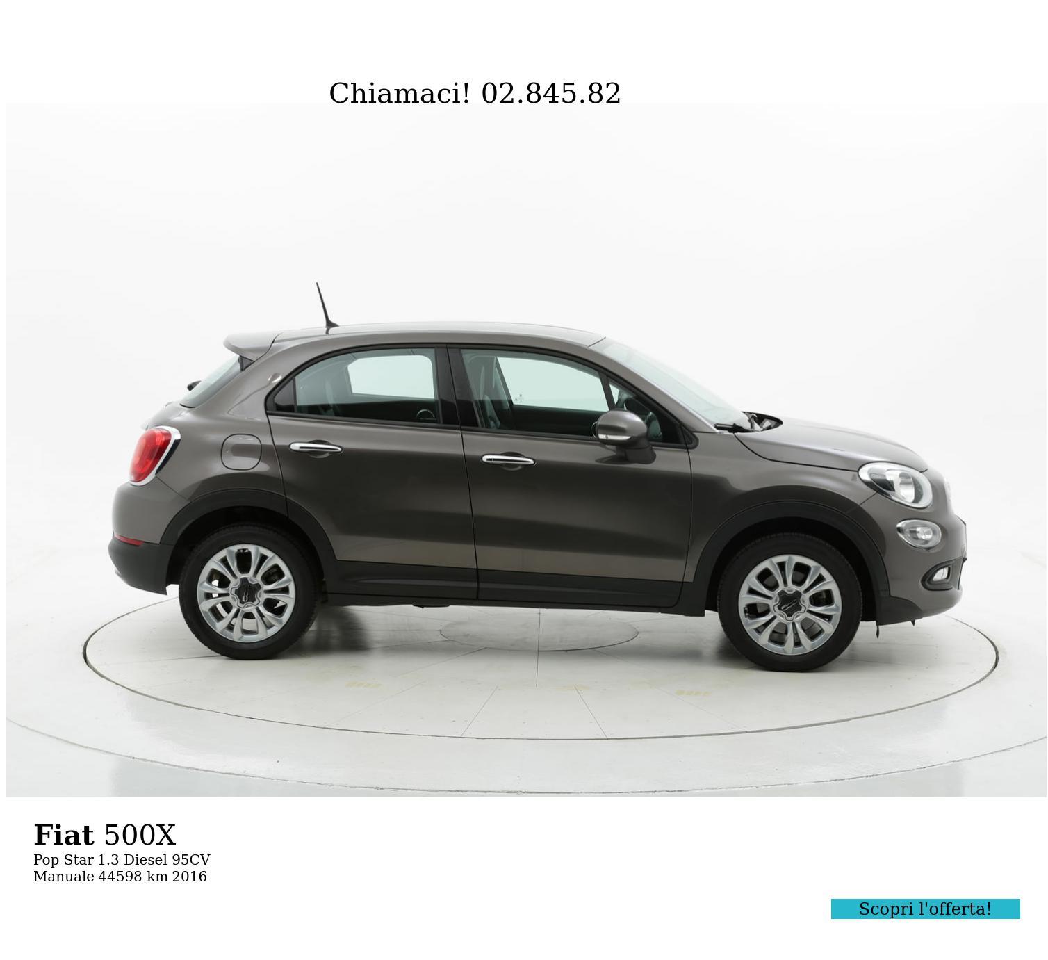 Fiat 500X usata del 2016 con 44.604 km | brumbrum