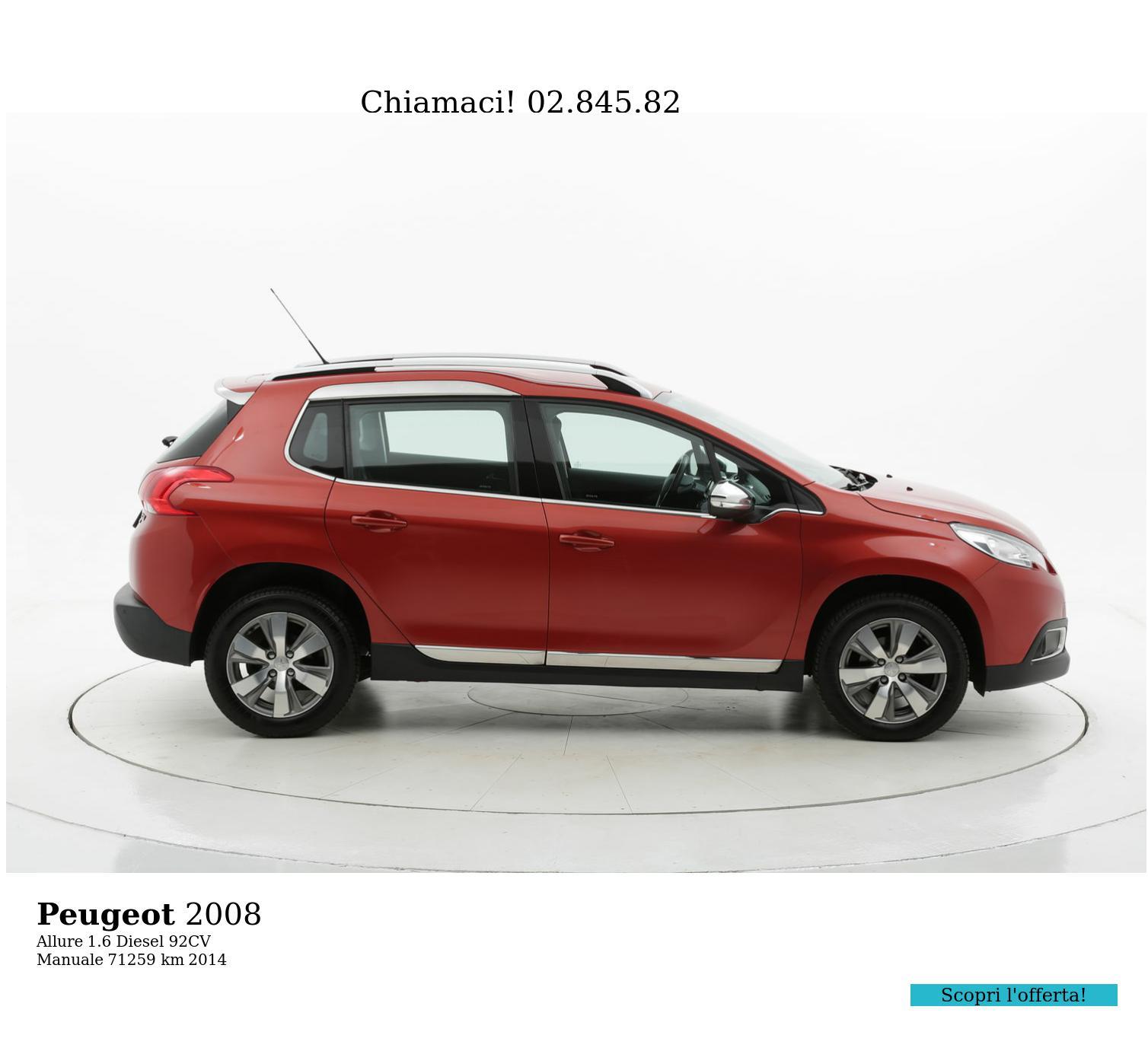 Peugeot 2008 usata del 2014 con 71.281 km | brumbrum