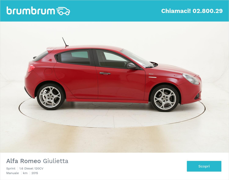 Alfa Romeo Giulietta Sprint usata del 2015 con 113.934 km   brumbrum