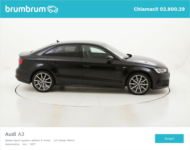 Audi A3 Sedan Sport quattro edition S tronic usata del 2017 con 85.180 km | brumbrum