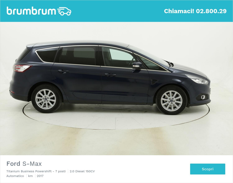 Ford S-Max Titanium Business Powershift - 7 posti usata del 2017 con 71.072 km   brumbrum