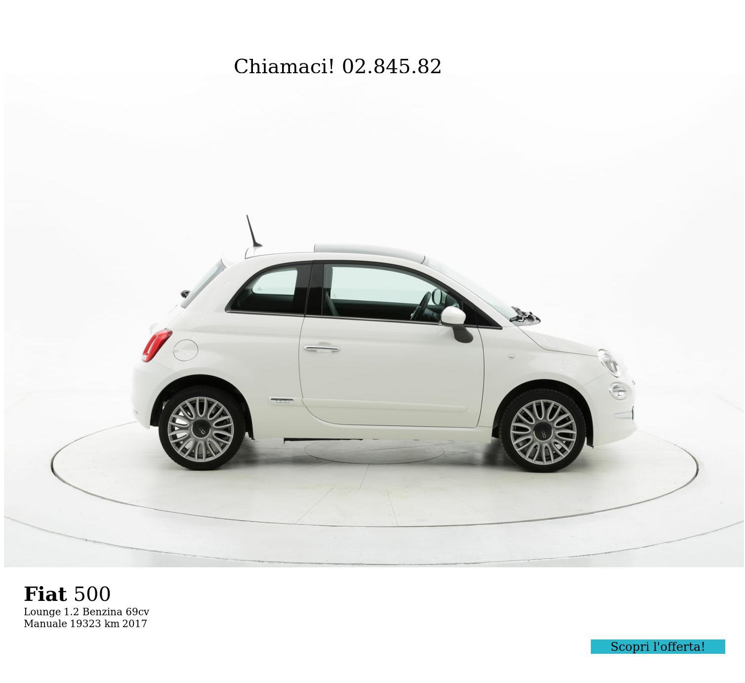 Fiat 500 usata del 2017 con 19.334 km | brumbrum