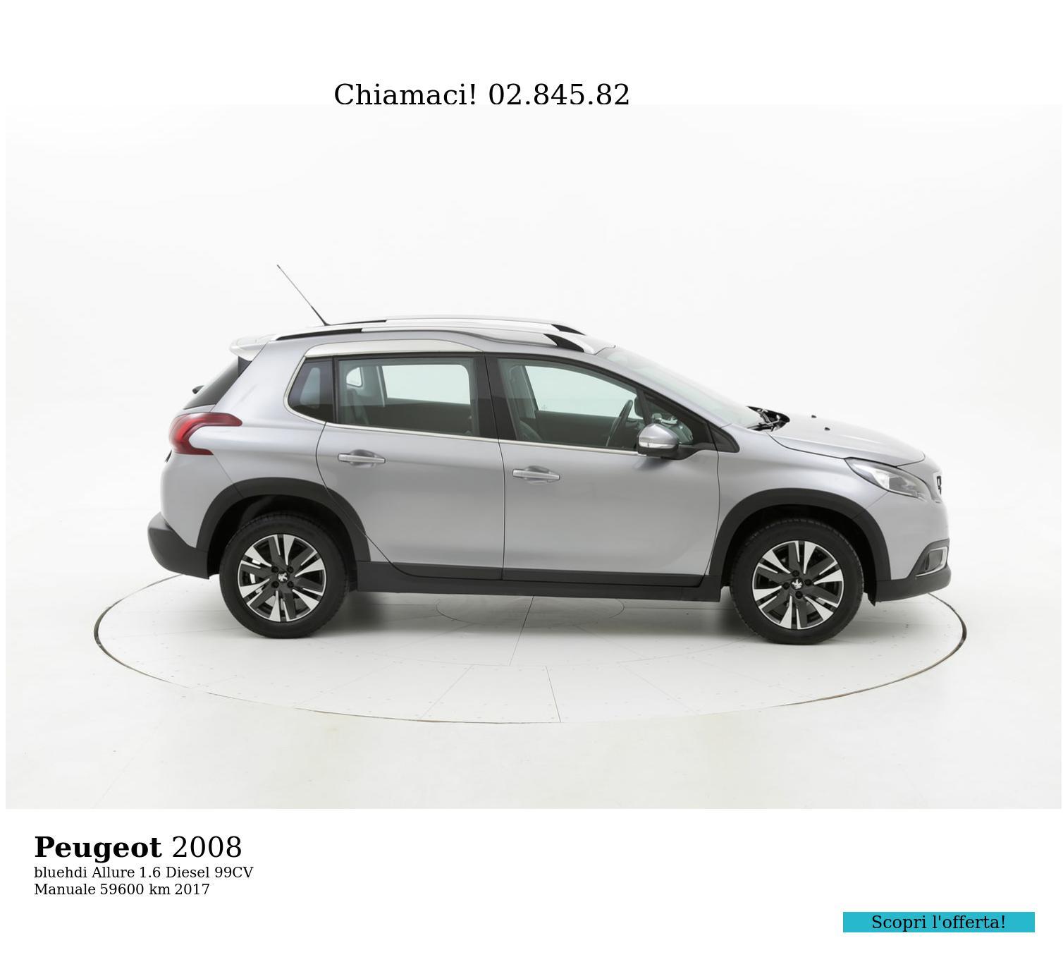 Peugeot 2008 usata del 2017 con 59.696 km | brumbrum