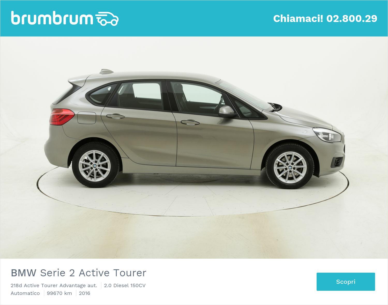 BMW Serie 2 Active Tourer 218d Active Tourer Advantage aut. usata del 2016 con 99.708 km | brumbrum
