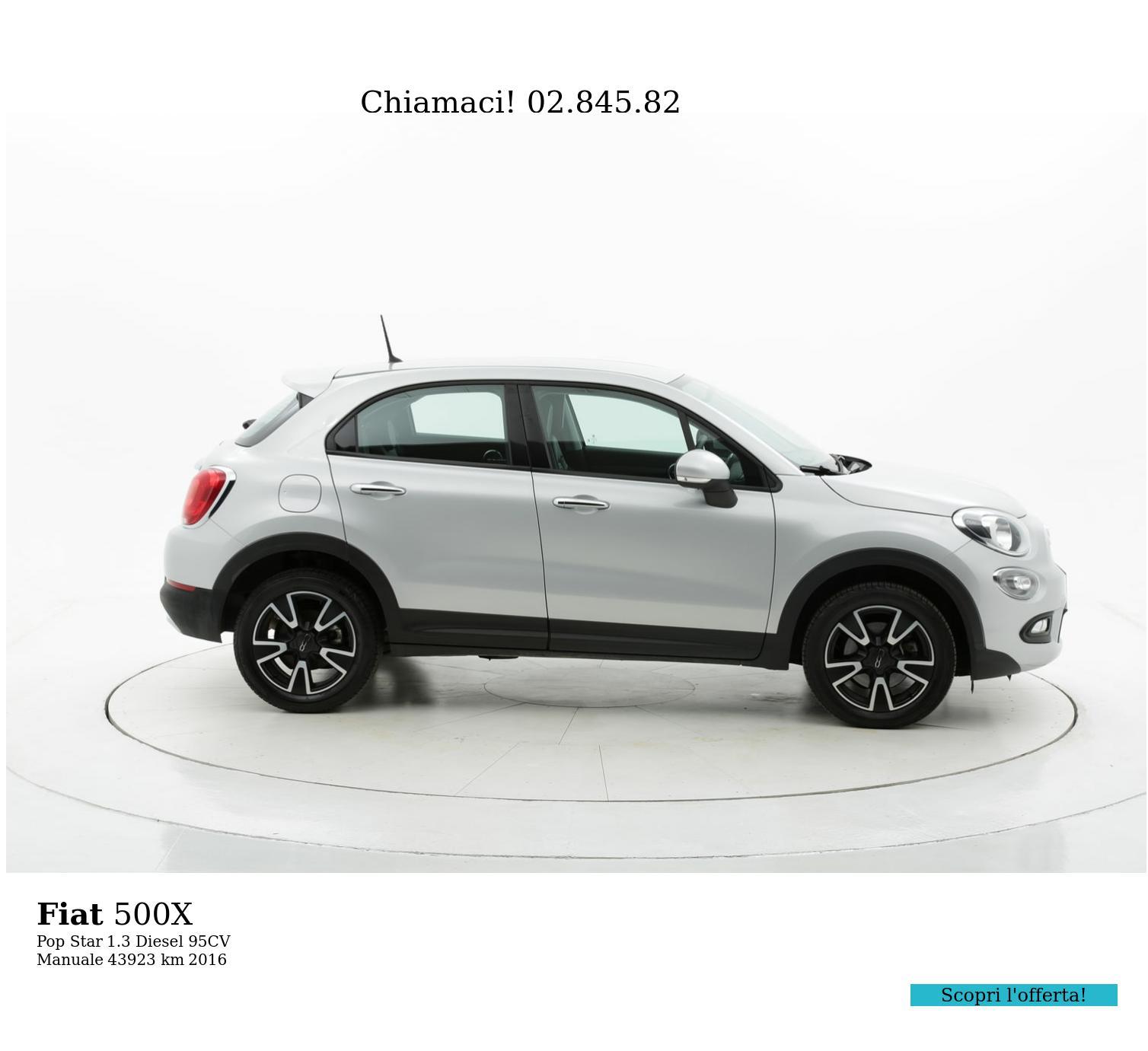 Fiat 500X usata del 2016 con 43.928 km | brumbrum