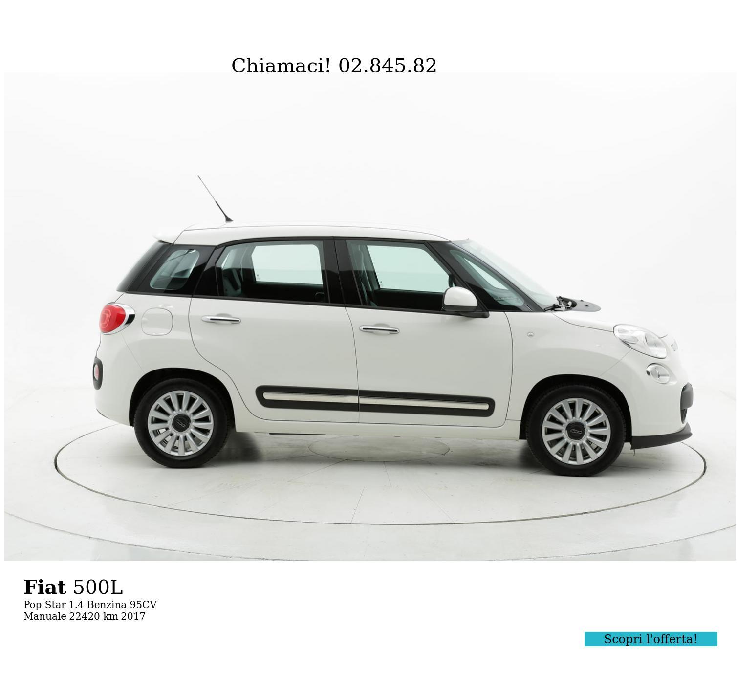 Fiat 500L usata del 2017 con 22.440 km | brumbrum