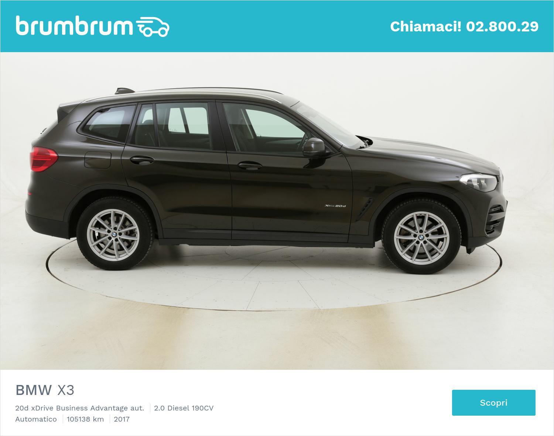 BMW X3 20d xDrive Business Advantage aut. usata del 2017 con 105.167 km | brumbrum