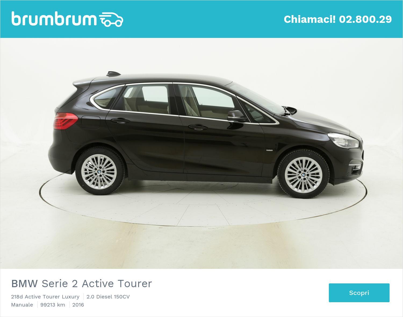 BMW Serie 2 Active Tourer 218d Active Tourer Luxury usata del 2016 con 99.286 km   brumbrum