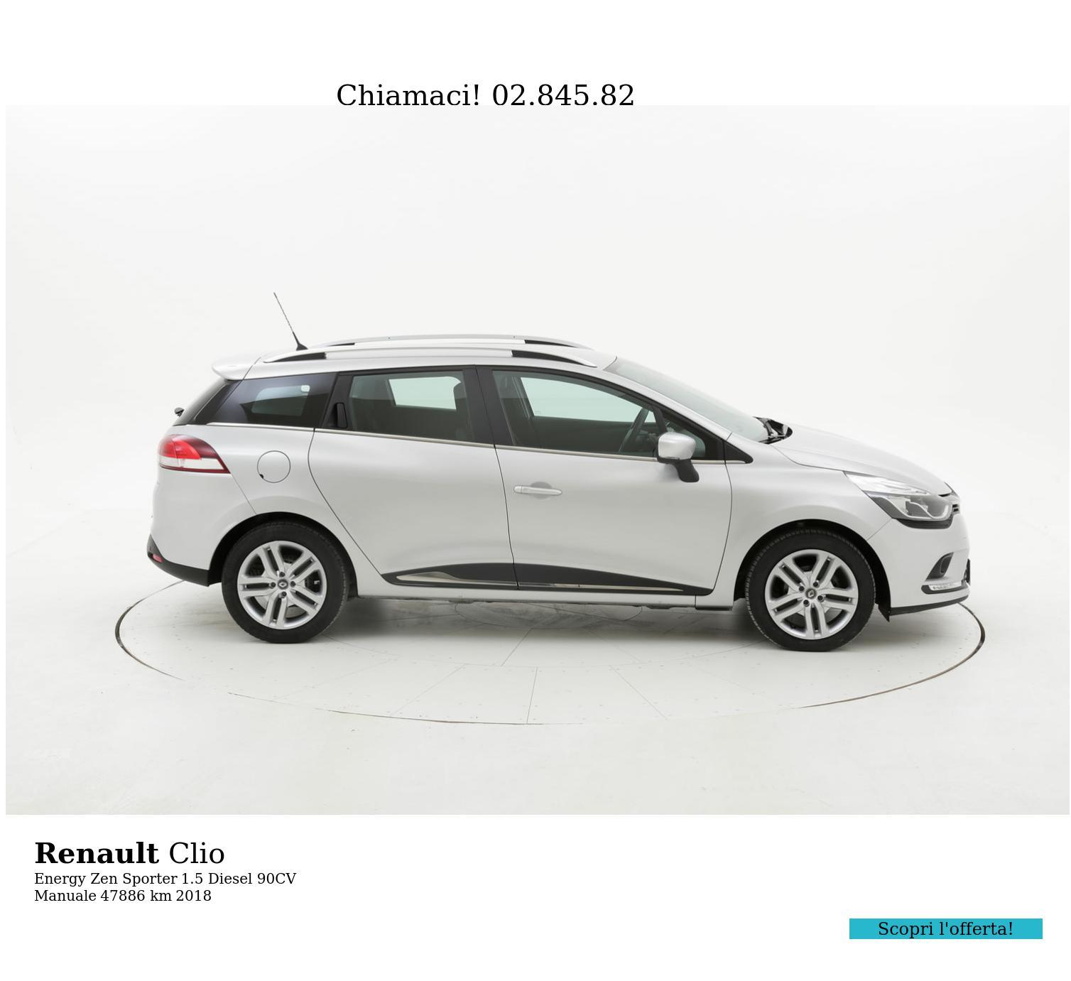 Renault Clio usata del 2018 con 47.892 km   brumbrum