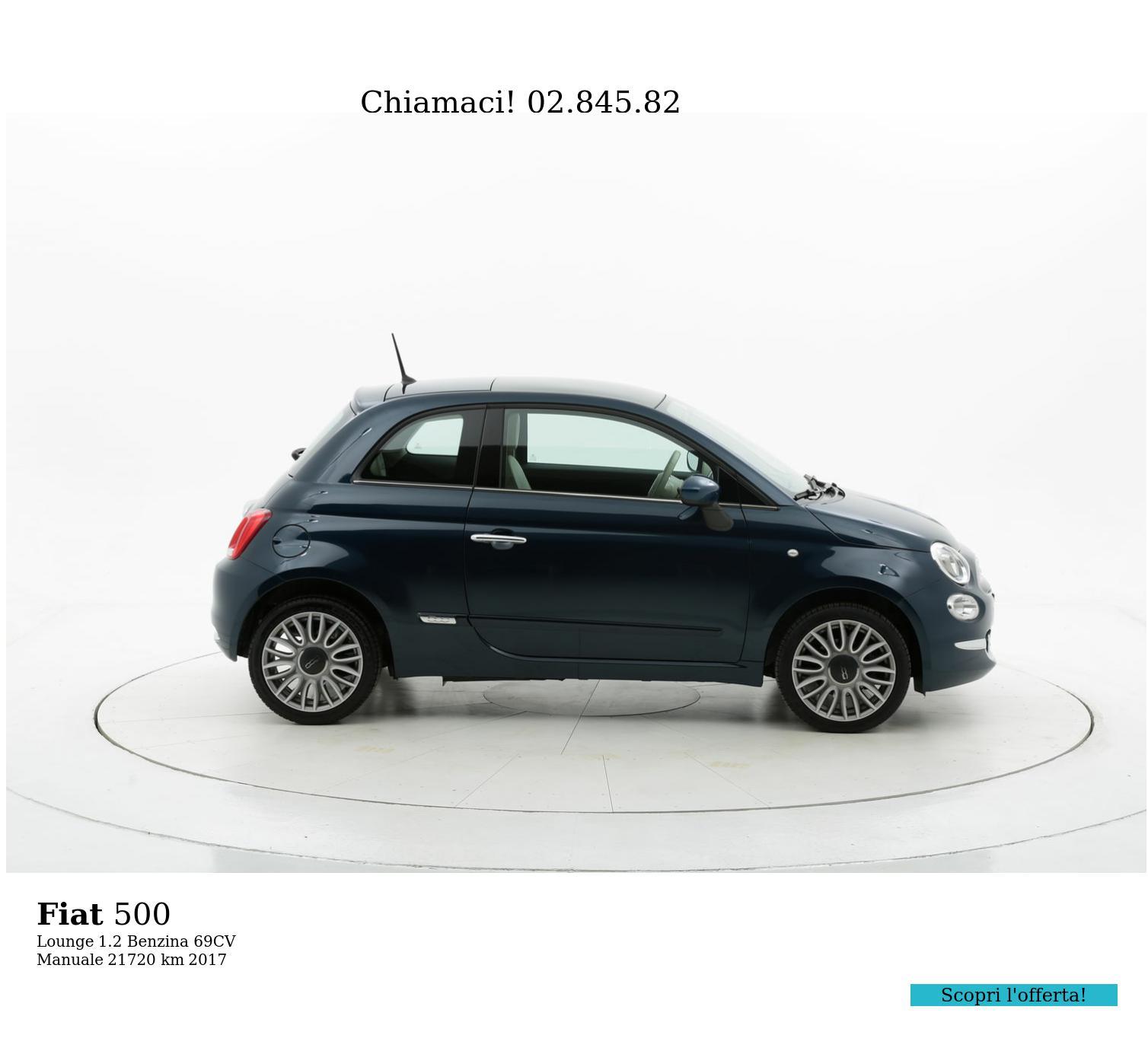 Fiat 500 usata del 2017 con 21.742 km | brumbrum