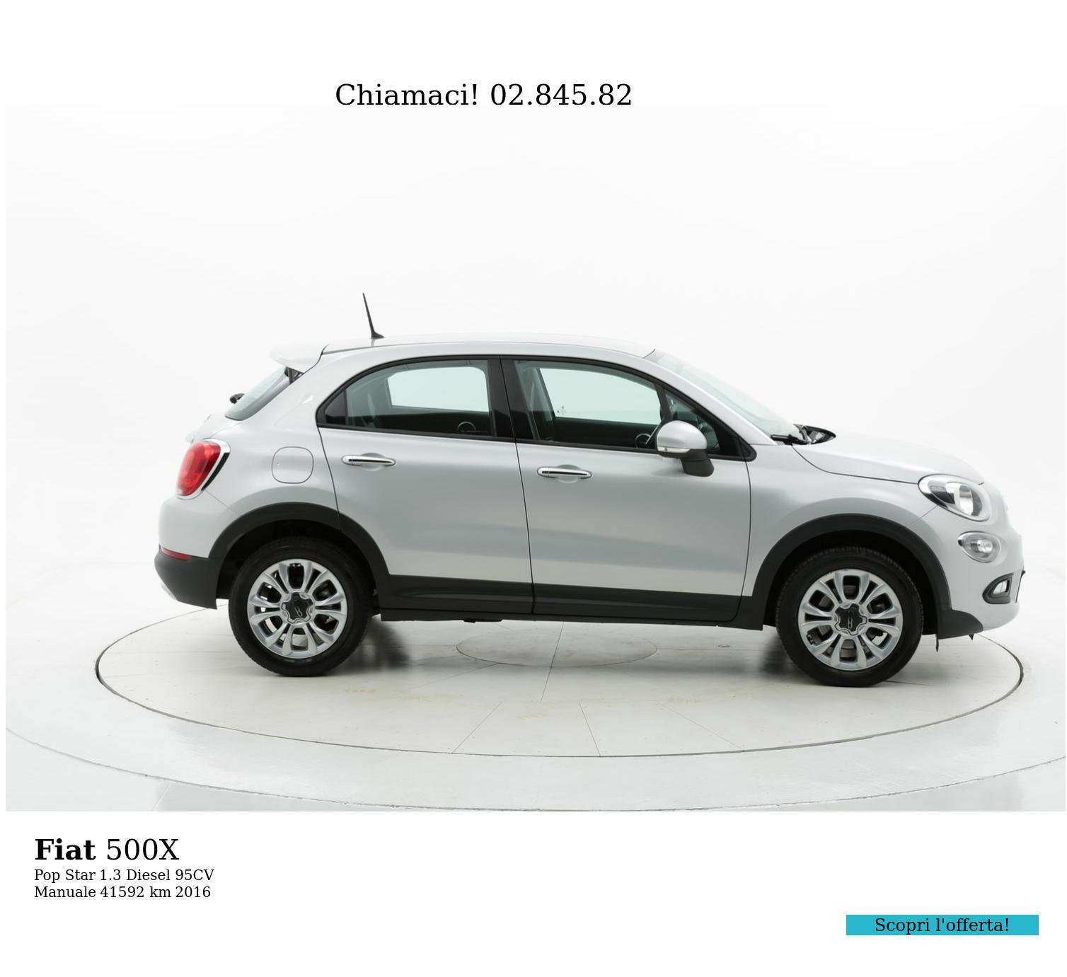 Fiat 500X usata del 2016 con 41.597 km | brumbrum