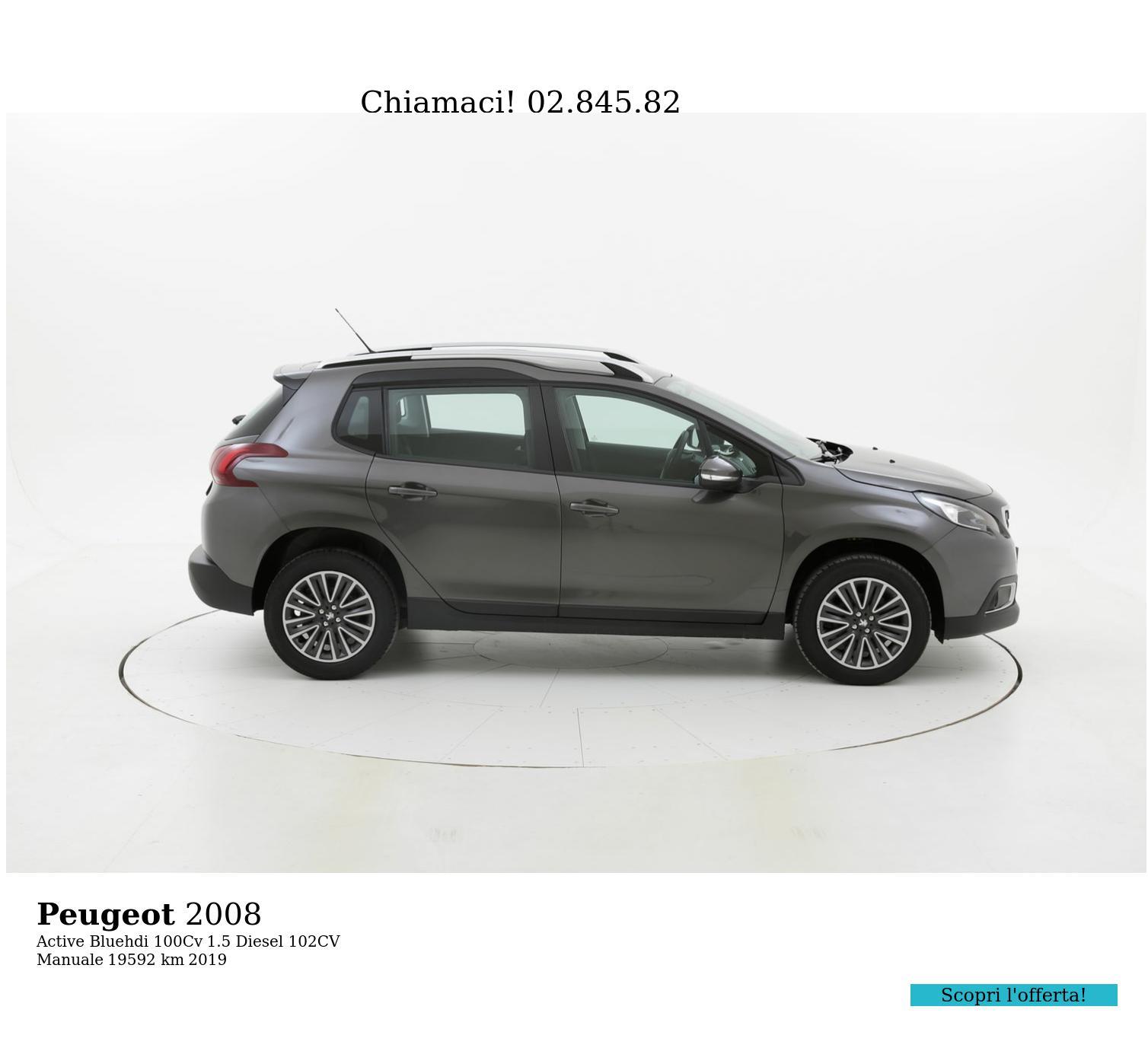 Peugeot 2008 usata del 2019 con 19.598 km | brumbrum