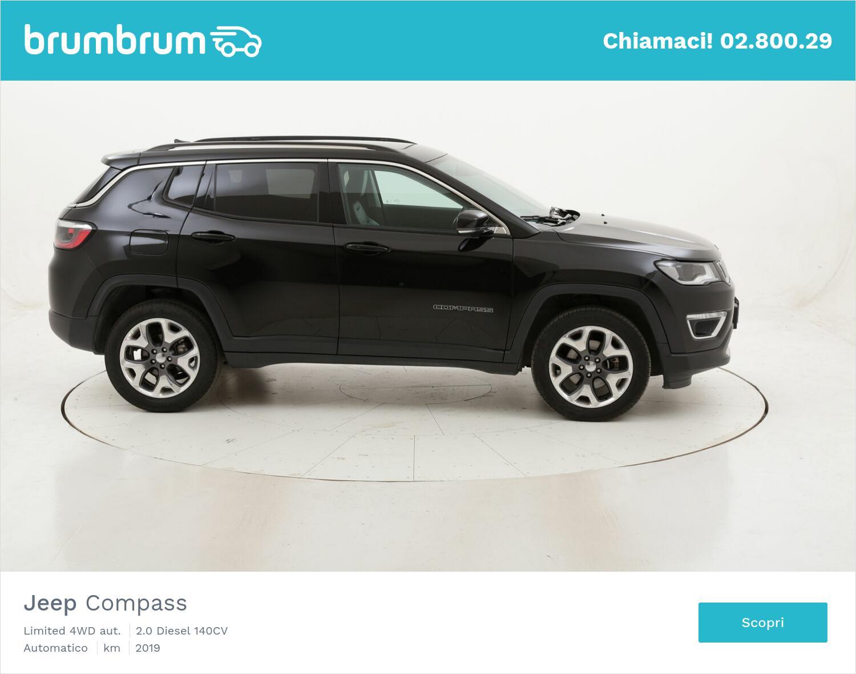 Jeep Compass Limited 4WD aut. usata del 2019 con 63.899 km   brumbrum