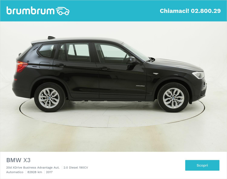 BMW X3 20d XDrive Business Advantage Aut. usata del 2017 con 83.094 km | brumbrum