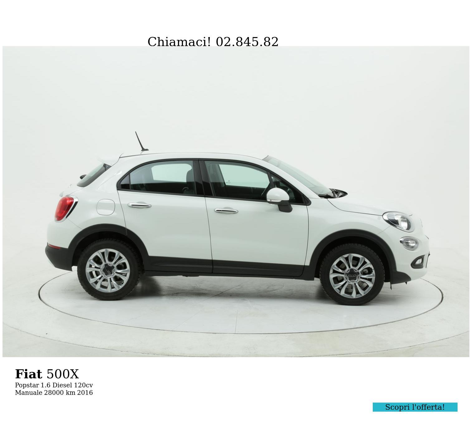 Fiat 500X usata del 2016 con 29.000 km | brumbrum