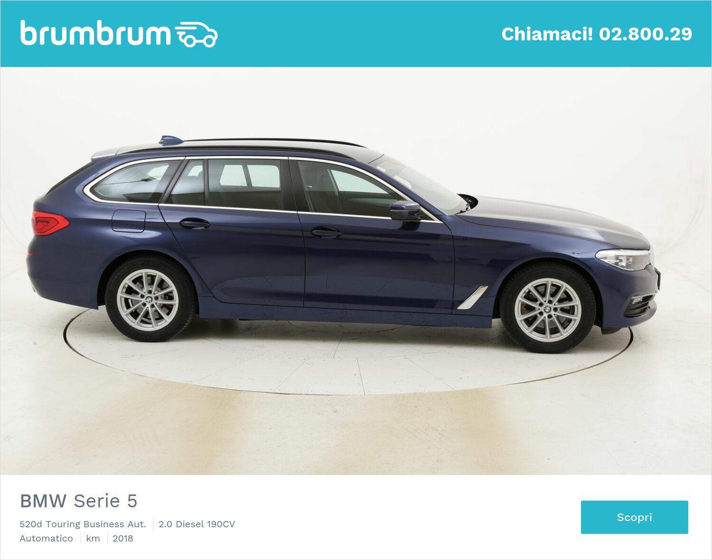 BMW Serie 5 520d Touring Business Aut. usata del 2018 con 82.167 km | brumbrum