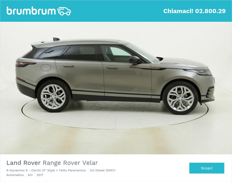 "Land Rover Range Rover Velar R-Dynamics S - Cerchi 21"" Style + Tetto Panoramico usata del 2017 con 80.193 km | brumbrum"