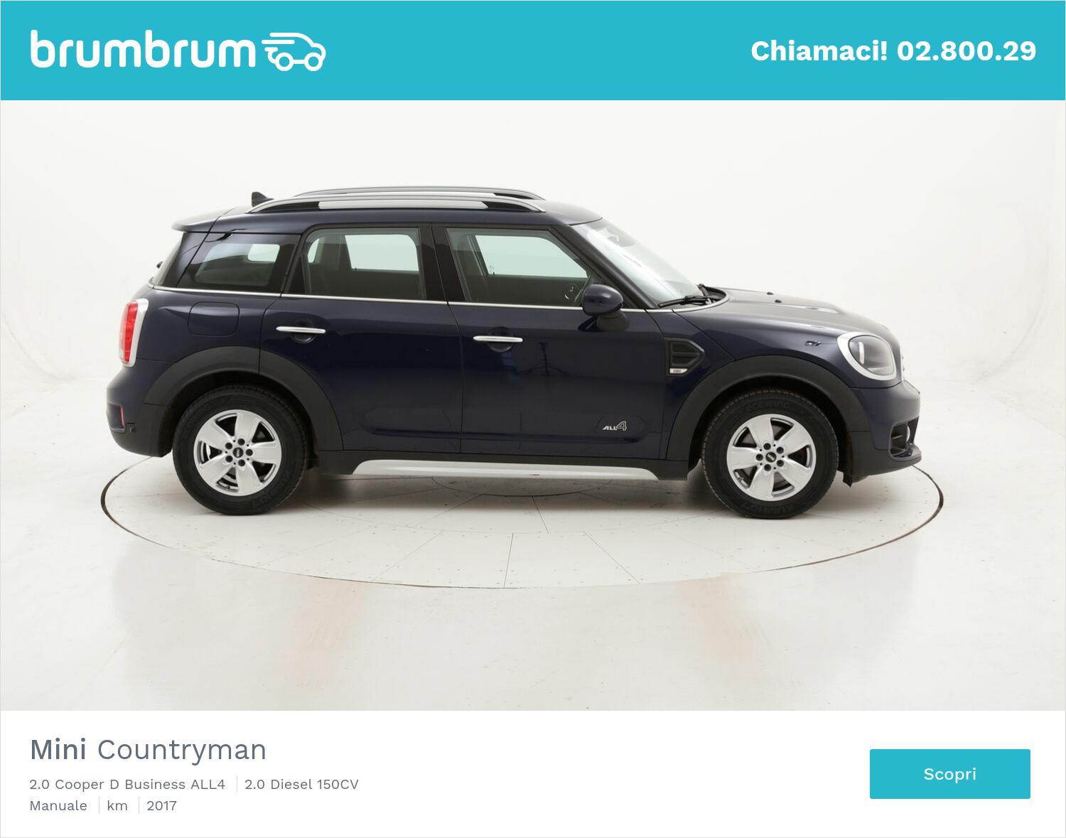 Mini Countryman 2.0 Cooper D Business ALL4 usata del 2017 con 77.325 km | brumbrum