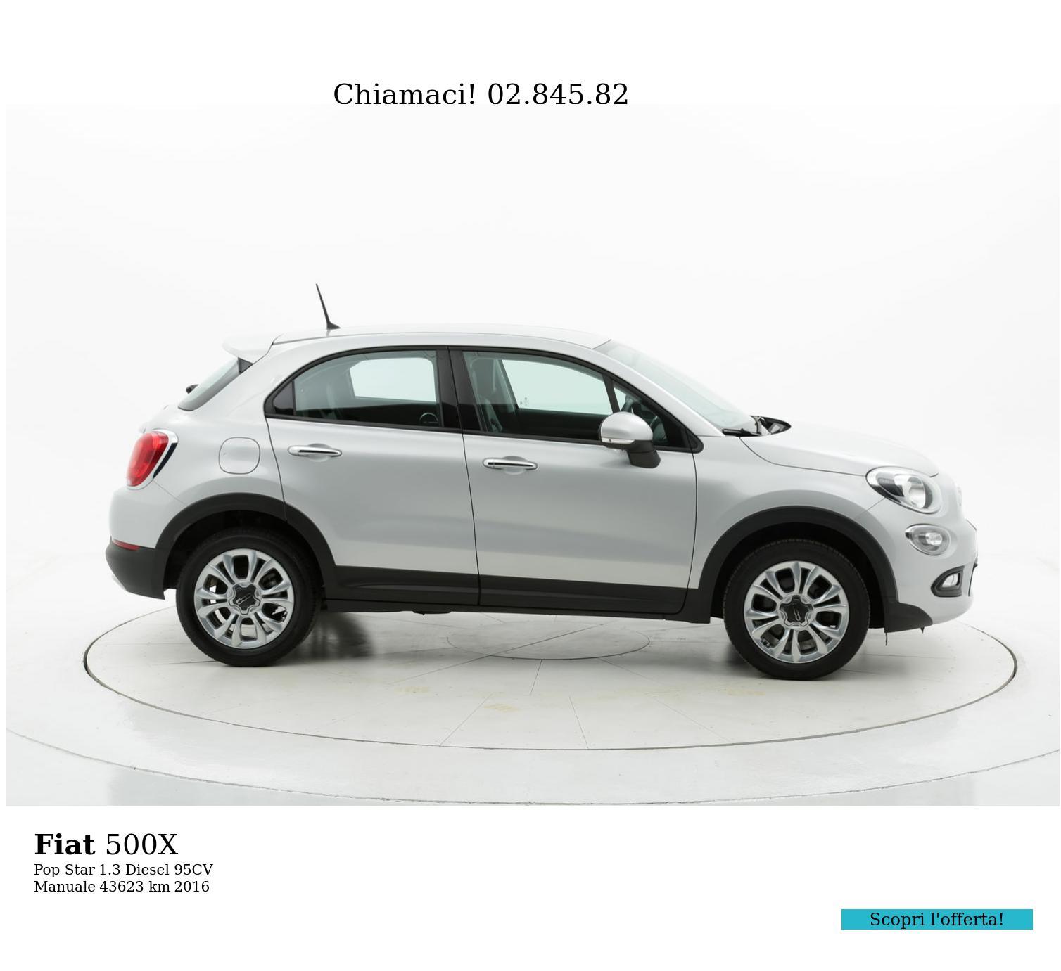 Fiat 500X usata del 2016 con 43.629 km | brumbrum