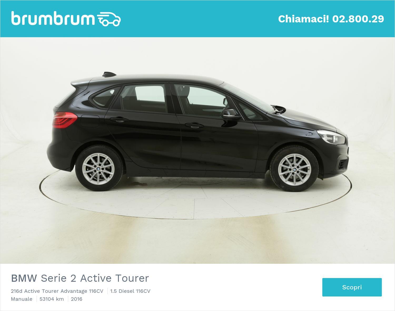 BMW Serie 2 Active Tourer 216d Active Tourer Advantage 116CV usata del 2016 con 53.159 km   brumbrum