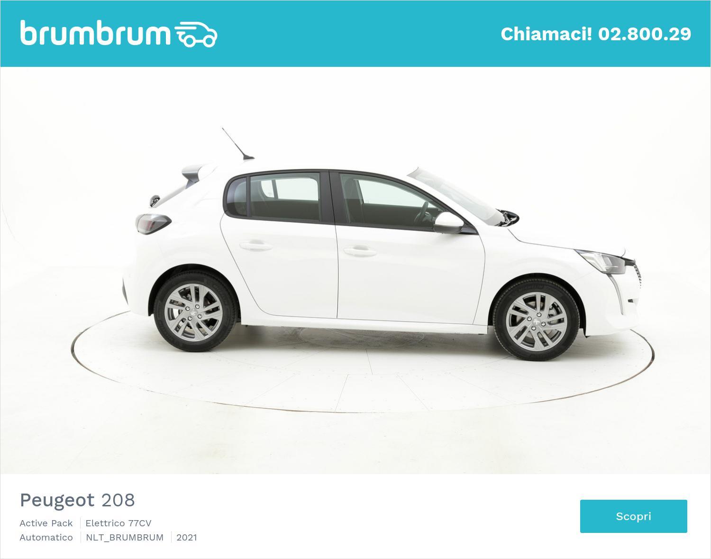 Peugeot 208 Active Pack elettrico bianca a noleggio a lungo termine | brumbrum