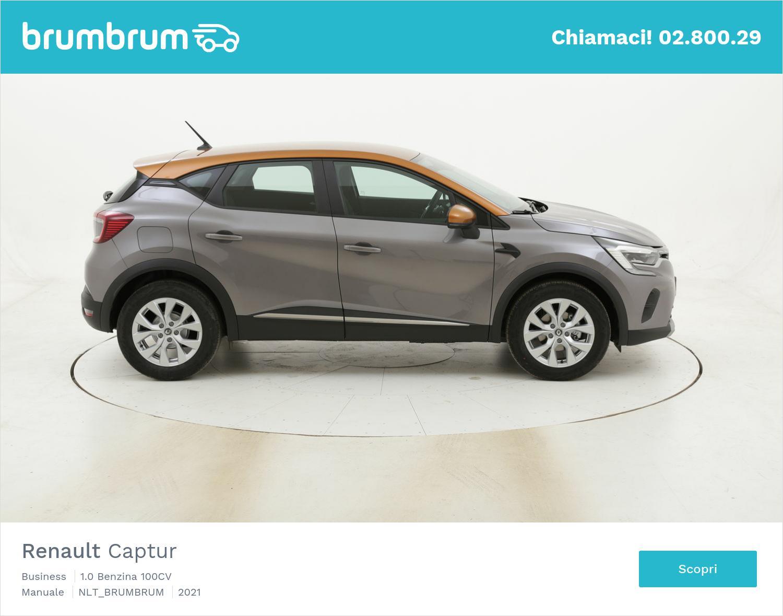 Renault Captur Business benzina antracite a noleggio a lungo termine | brumbrum
