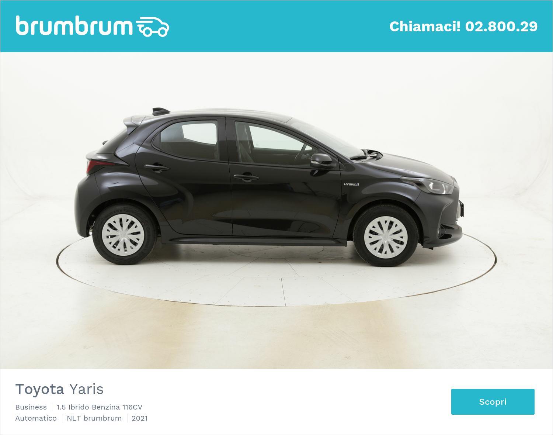 Toyota Yaris Business ibrido benzina antracite a noleggio a lungo termine | brumbrum