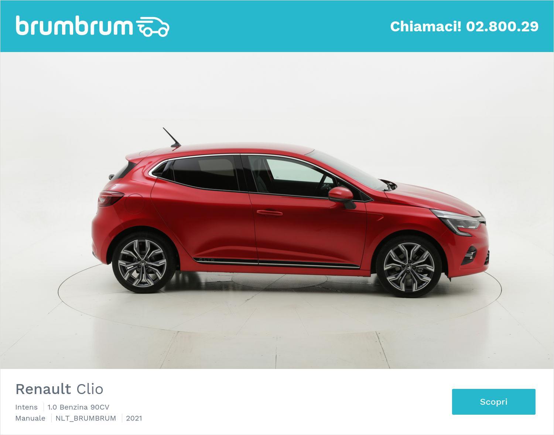 Renault Clio Intens benzina rossa a noleggio a lungo termine   brumbrum